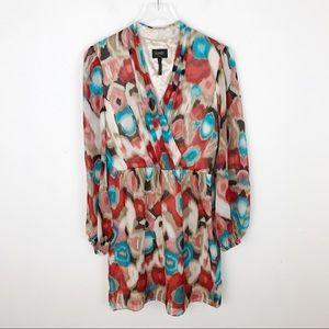 Laundry Shelli Segal Silk Abstract Mini Dress 8